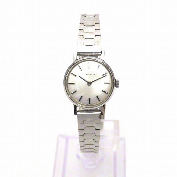 1円~最落なし ゼニス 手巻き 2針 スイスメイド シルバーカラー 時計 腕時計 レディース☆0307