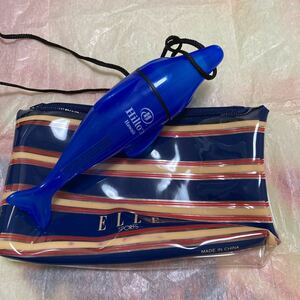 2個 未使用 ハワイ ヒルトン ホテル ドルフィン 小物入れ 防水 海 プール ポーチ おまけ ELLE HGVC グランドバケーション