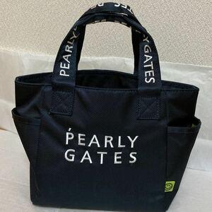 PEARLYGATES スマイル ニコちゃん カートバッグ 男女兼用 ネイビー 直営店 バッグ トート パーリーゲイツ