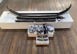 新型 ベンツ Gクラス G63 W463a W464 2018-2020 BRABUSタイプ LEDライト フロントバンパー リップスポイラー 未塗装