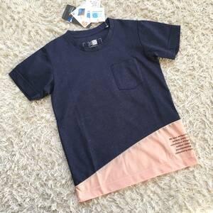 新品 未使用*karrimor カリマー*キッズ 半袖 Tシャツ 紺 ピンク M 110cm 120cm*ネイビー アウトドア キャンプ 子供