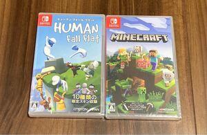 Nintendo switch ソフト マインクラフト ヒューマンフォールフラット 新品未開封 セット マイクラ