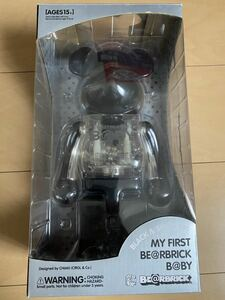 MY FIRST BE@RBRICK B@BY BLACK & SILVER Ver. 400% ベアブリック MEDICOM TOY
