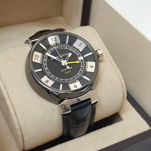 ■ルイヴィトン Q1131 タンブールGMT 自動巻き オートマチック メンズ腕時計 箱付き LOUIS VUITTON