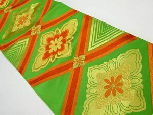 宗sou アンティーク 花菱模様織り出し名古屋帯(着用可)