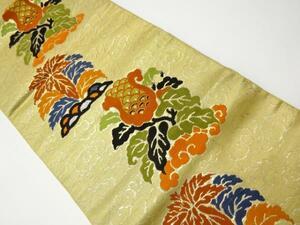 宗sou アンティーク 抽象花模様織り出し名古屋帯(着用可)