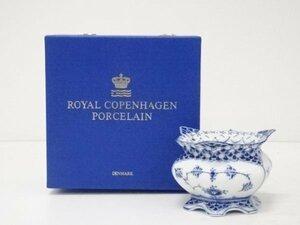 宗sou Royal Copenhagen ロイヤルコペンハーゲン ブルーフルーテッドフルレースシュガーボウル(箱付)