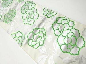宗sou アンティーク 花模様織り出し名古屋帯(着用可)