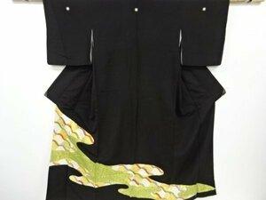 宗sou アンティーク 金彩流水に瓦模様刺繍留袖(比翼付き)