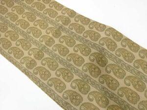 宗sou アンティーク 縞にペイズリー模様織出し名古屋帯(着用可)