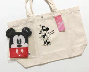 ディズニー ミニーマウス ミッキーマウス キャラクター トートバッグ エコバッグ お掃除クロス おまけ1点