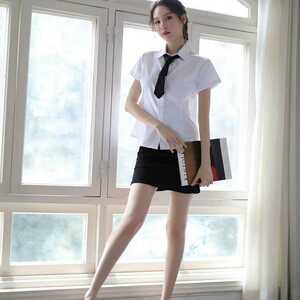 セクシー 女教師 秘書 OL コスチューム ハロウィン コスプレ衣装 DJ721