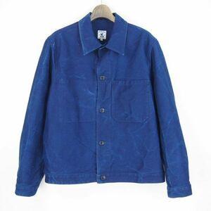 フランス製*アーペントル ARPENTEUR BISON BLUE*EDDIE*デニムジャケット*カバーオール(L)インディゴブルー