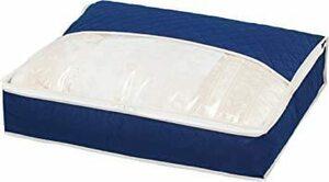 ネイビー アストロ 羽毛布団 収納袋 シングル用 ネイビー 不織布 活性炭消臭 コンパクト 617-33