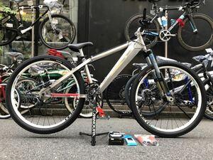 絶版 オレンジバイク ( ミサイル)超レア物 ダートジャンプ デュアル 4クロスMTB 極上USEDフレーム&新品パーツ ワンメイク完成車