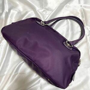 【美品】アニエスベー ボヤージュ ハンドバッグ 紫