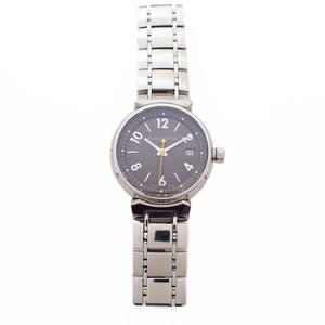 ルイヴィトン 腕時計 ウォッチ タンブール レディース 100M防水 黒文字盤 Q1211D シルバー系 TK2957