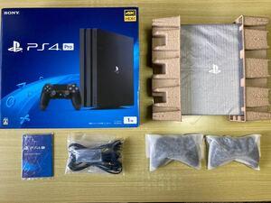 【美品】 PS4 Pro PlayStation 4 Pro CUH-7200B B01 ジェットブラック 動作良好 完動品
