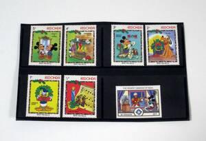 ■レドンダ島 ディズニー切手 6種 1983年 クリスマス おまけ有 即決■