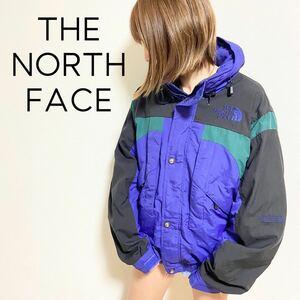 日本未入荷 US規格 刺繍ロゴ入 ノースフェイス マウンテンパーカー マンパ ナイロン ナイロンジャケット スキーウェア 初期タグ