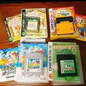 ゲームボーイカセット4本セット 箱あり ソフト ポケモンピンボール 牧場物語2 ハムスターパラダイス2ちゅー もんすたあ★レース