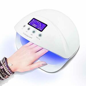 LED ネイルドライヤー UVネイルライト 50W ハイパワー ジェルネイルライト 肌をケア センサータイマー付き UVライト