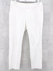 ◇ green label relaxing グリーンレーベルリラクシング UNITED ARROWS ユナイテッドアローズ タック パンツ 40 ホワイト * 1002799741798