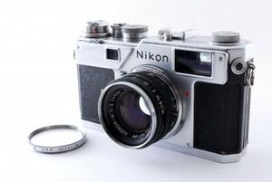 美品 Nikon ニコン S3 レンジファインダーカメラ レンズ NIKKOR-H 1:2 f=5cm シャッター確認済み 861942
