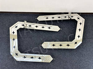 1 jpy ~ new goods immediate payment stainless steel mirror stay *..*25 angle pipe left right set 4t medium sized deco truck retro all-purpose old car art truck S1537S
