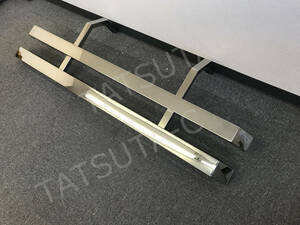 1 jpy ~ new goods immediate payment * specular stainless steel * length 1400 side bumper both edge bending . angle pipe stay attaching . left right set 2t/3t for all-purpose deco truck S1132S