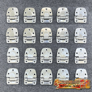 1 jpy ~ stainless steel * flap hinge *20 piece set .. hinge pin less 5.φ11 buffing grinding finishing deco truck truck factory option parts 10490