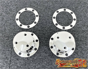 1 jpy ~ Fuso Canter for stainless steel rear hub cap * wheel spin na- marker stay installation bracket 2 piece collection deco truck S1543S