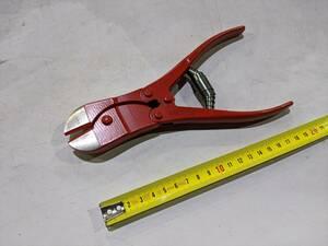12/22●BU1230 未使用 カッティングニッパー 特殊な板形状バネ 楽々切断 トグルバネ エナメル仕上げ USAG(ウーザック) 192 本体重さ約540g