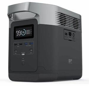 【送料無料】EF ECOFLOW(エコフロー) DELTA ポータブル電源 大容量 1260Wh家庭用蓄電池 AC(1600W 瞬間最大3100W) 車中泊 キャンプ