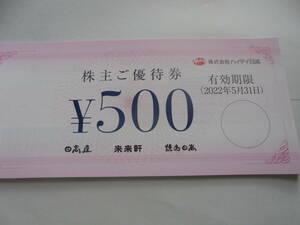ハイデイ日高・株主優待券12000円分/送料込