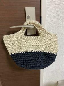 ハンドメイド トートバッグ 麻ひもバッグ ハンドバッグ お散歩バッグ