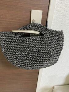 マルシェバッグ お散歩バッグ 手編みバッグ トートバッグ すずらんテープバッグ ハンドバッグ お散歩バッグ
