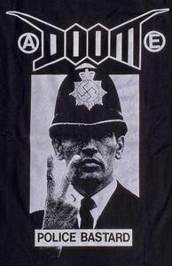 DOOM ドゥーム Tシャツ 黒ブラック PUNK パンク ハードコア GISM GAUZE OUTO SOB GHOUL LIPCREAM アスフォート ディスクローズ レア廃盤