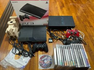 SONY PlayStation3 CECH-4000B+PS2+ソフトセット