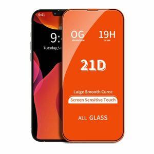 iPhone 13 13 Pro 6.1インチ 11H 0.26mm 枠黒色 強化ガラス 液晶保護フィルム 21D L083