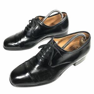 【マレリー】本物 marelli 靴 24cm 黒 ストレートチップ ビジネスシューズ 内羽根式 本革 レザー 男性用 メンズ 日本製 24 EEE