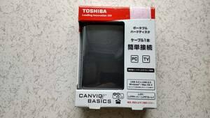 ■TOSHIBA 東芝 CANVIO BASICS HD-AB20TK 2TB HDD ポータブル PC・レグザ等に【送料無料】③