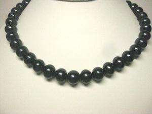 真珠の聖地 超大きい12mm黒真珠ネックレス