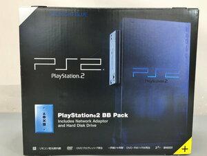 ソニー SONY PS2 PlayStation2 BB Pack SCPH-50000MB/NH ゲーム機 本体 ミッドナイト・ブルー 2110LBM006