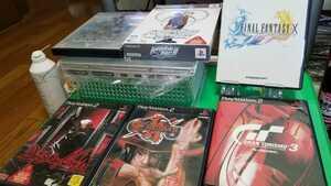 PS2 プレステ2 薄型 ピックアップレンズ新品交換済 クリーニングメンテ済動作品 FFX+GT3A+ギルティギア+3本 即決→3つから選択制!