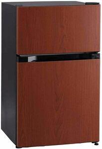 特別価格!アイリスプラザ 冷蔵庫 87L 2ドア ひとり暮らし 幅47.5cm ブラック PRC-B092D-MJDZV