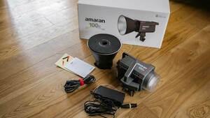 Aputure アプチャー Amaran 100x 撮影ライト 130W バイカラー2700K-6500K LEDビデオライト LED定常光ビデオライト 使用1回です、美品