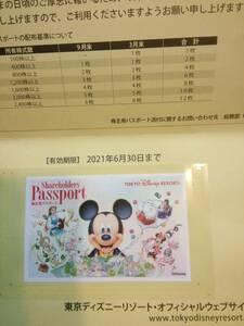 東京ディズニーリゾート株主用パスポート2022年1月31日有効