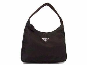 1円 ■美品■ PRADA プラダ テスートナイロン ワンハンドル ハンドバッグ 手提げかばん 手持ちかばん レディース ブラウン系 S7059アN