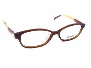 1円 ■新品■未使用■ dazzlin ダズリン DZF-2535 52□16-135○31 メガネ 眼鏡 アイウェア レディース ブラウン系×クリア Y5298アO